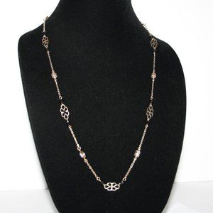 Vintagejelyfish Jewelry - Long gold and black chain necklace 41""